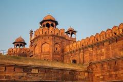Rotes Fort, alte Ruinen in Delhi, Indien Lizenzfreies Stockfoto