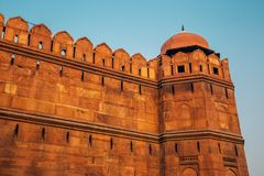Rotes Fort, alte Ruinen in Delhi, Indien Stockbild