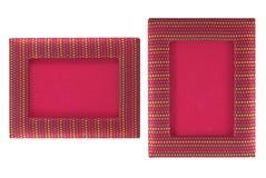 Rotes Fotofeld auf weißem Hintergrund Lizenzfreie Stockbilder