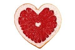 Rotes Fruchtinneres Stockfoto