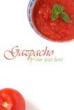 Rotes gazpacho Lizenzfreies Stockfoto