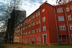 Rotes Gebäude Stockfoto