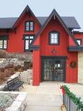 Rotes Gebäude Stockfotos