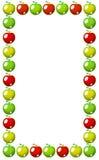 Rotes, gelbes und grünes Apfelfeld Stockfotos