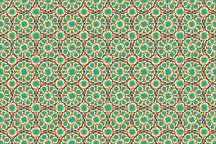 Rotes Gelbgrün und blaue bunte Blumenillustrationsgrafik entwerfen Musterbeschaffenheits-Tapetenhintergrund Stockfoto