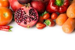 Rotes Gemüse und Frucht Lizenzfreies Stockfoto