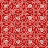Rotes geometrisches Muster Lizenzfreie Stockfotos