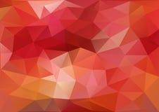 Rotes geometrisches Muster lizenzfreie abbildung