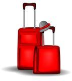 Rotes Gepäck stock abbildung