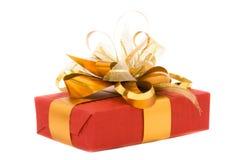 Rotes Geschenk Stockfotografie