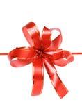 Rotes Geschenkfarbband stockbild