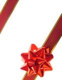 Rotes Geschenkfarbband und -bogen Stockbild