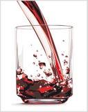 Rotes Getränk Stockfoto