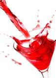 Rotes Getränk Stockbild