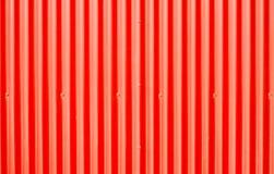 Rotes gewölbtes Metall stockbild