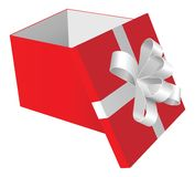 Rotes giftbox Stockbild