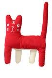 Rotes glückliches Katzespielzeug Lizenzfreies Stockfoto