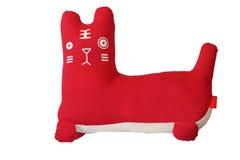 Rotes glückliches Katzespielzeug Stockfotos