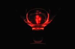 Rotes Glas Stockbild