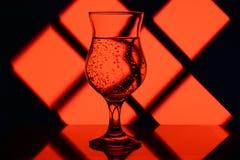 Rotes Glas Stockfoto
