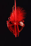 Rotes Glasinneres auf Schwarzem Lizenzfreies Stockbild
