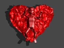 rotes Glasschätzchen 3D im Inneren Lizenzfreie Stockbilder