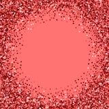 Rotes Goldfunkeln Angrenzender Rahmen mit rotem Goldfunkeln lizenzfreie abbildung