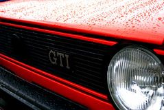 Rotes Golf 1 GTI Stockbilder