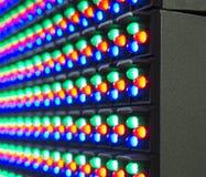 Rotes grün-blaues von LED-Komponenten auf Schirm Stockfotografie
