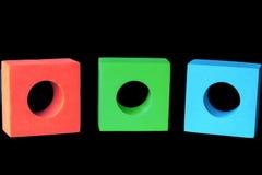 Rotes Grünes u. Blau blockiert RGB Lizenzfreies Stockbild