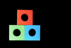 Rotes Grünes u. Blau blockiert RGB Lizenzfreie Stockbilder