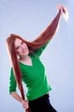 Rotes Haar Lizenzfreie Stockfotos