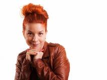 Rotes Haar-Schönheits-Lächeln Lizenzfreie Stockbilder