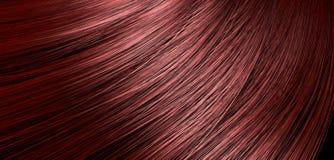 Rotes Haar-Schlagnahaufnahme Stockbilder