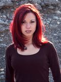 Rotes Haarmädchen Stockfotografie