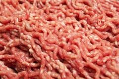 Rotes Hackfleisch, Fleischnahrung lizenzfreie stockbilder