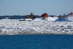Rotes Haus Stockfotografie