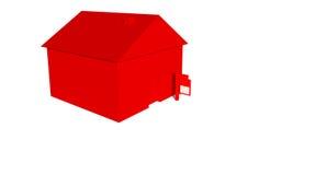 Rotes Haus mit Zeichen lizenzfreie abbildung