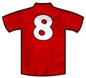 Rotes Hemd acht Stockfoto