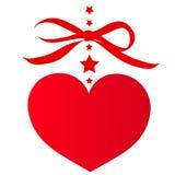 Rotes Herz, auf einem Weiß Lizenzfreies Stockfoto