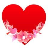 Rotes Herz, auf einem Weiß Lizenzfreie Stockbilder