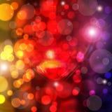 Rotes Herz auf glänzendem Hintergrund Stockbild