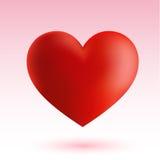 Rotes Herz auf rosa Hintergrund Lizenzfreies Stockfoto