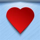 rotes Herz 3d auf blauem Hintergrund Stockbild