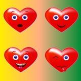 Rotes Herz der smiley das fröhliche Lächeln und sind überrascht Lizenzfreie Stockbilder