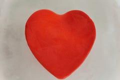Rotes Herz des Eises Lizenzfreies Stockfoto