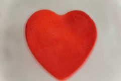 Rotes Herz des Eises Stockfotografie