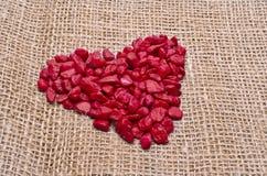 Rotes Herz des Steins Stockfoto