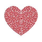 Rotes Herz gemacht von den runden Kreisen Auch im corel abgehobenen Betrag Stockfotografie