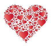 rotes Herz im Herzvektor Stockbilder